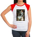 Ophelia & Boxer Women's Cap Sleeve T-Shirt