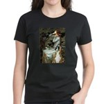 Ophelia & Boxer Women's Dark T-Shirt