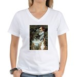 Ophelia & Boxer Women's V-Neck T-Shirt