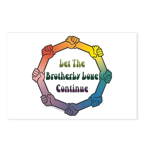 Let Brotherly Love Continue Postcards (Package of