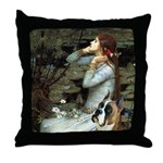 Ophelia & Boxer Throw Pillow
