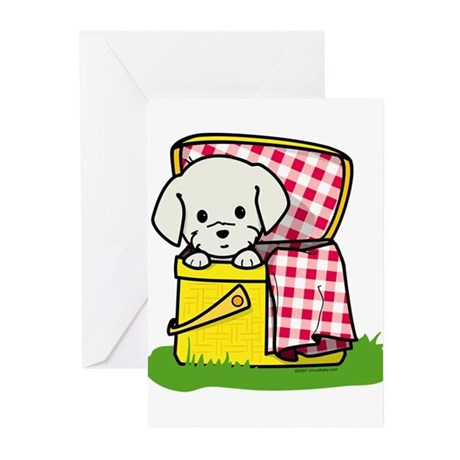 Puppy Picnic Greeting Cards (Pk of 10)