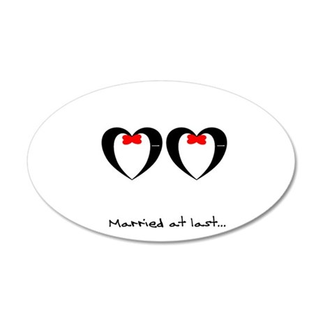 Married at last Gay Wedding Wall Decal