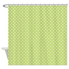 Halloween Them With Green Backgroun Shower Curtain