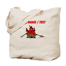 Custom Red Dragon On Boat Tote Bag