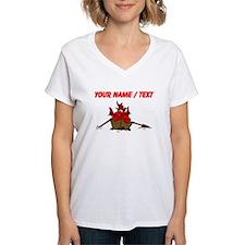 Custom Red Dragon On Boat T-Shirt