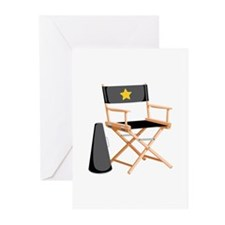 Director Chair Greeting Cards
