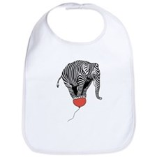 Flying Elephant Zebra Bib