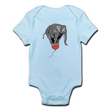 Flying Elephant Zebra Infant Bodysuit