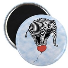 Flying Elephant Zebra Magnet