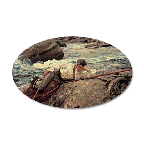 Sargent - On his Holidays, N 35x21 Oval Wall Decal