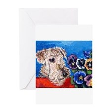 Airedale terrier Greeting Cards