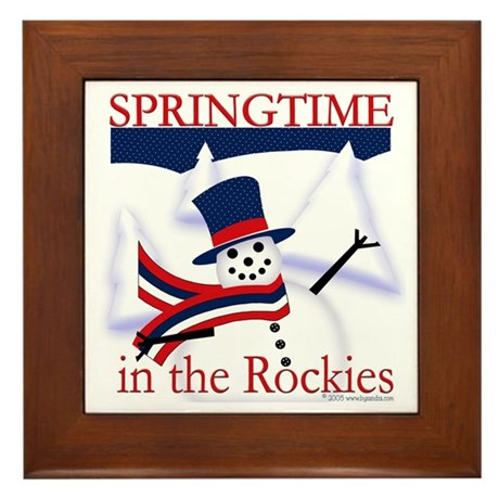Springtime in the Rockies Framed Tile