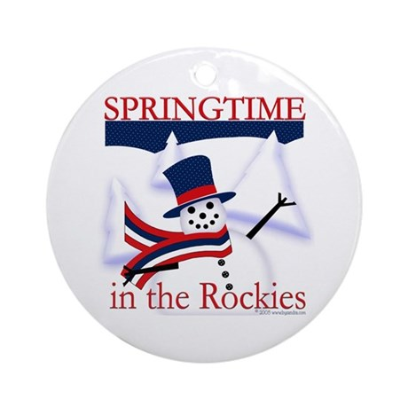 Springtime in the Rockies Ornament (Round)