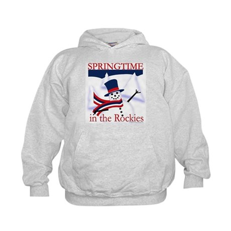 Springtime in the Rockies Kids Hoodie