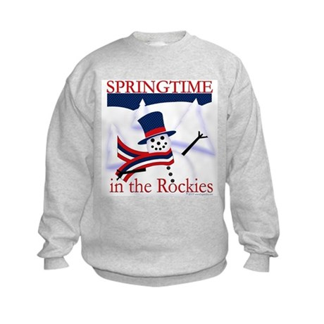 Springtime in the Rockies Kids Sweatshirt