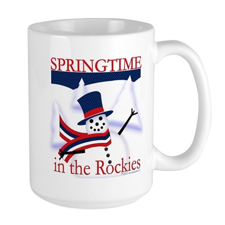 Springtime in the Rockies Large Mug