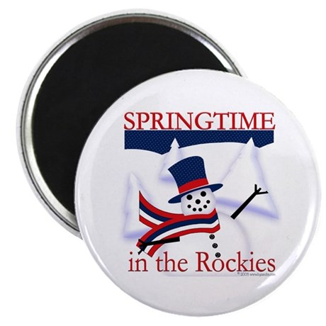 "Springtime in the Rockies 2.25"" Magnet (100 pack)"