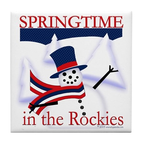 Springtime in the Rockies Tile Coaster