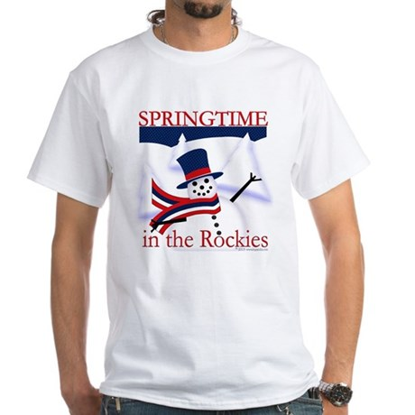 Springtime in the Rockies White T-Shirt