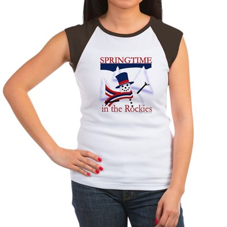 Springtime in the Rockies Women's Cap Sleeve T-Shi