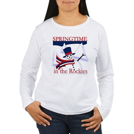 Springtime in the Rockies Women's Long Sleeve T-Sh