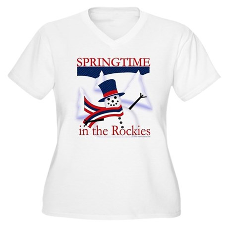 Springtime in the Rockies Women's Plus Size V-Neck