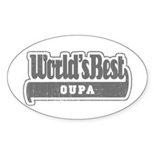 WB Grandpa [Afrikaans] Oval Decal