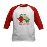 Big Sister to be (Strawberry) Kids Baseball Jersey