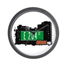 E 204 St, Bronx, NYC Wall Clock