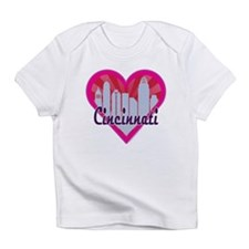 Cincinnati Skyline Sunburst Heart Infant T-Shirt