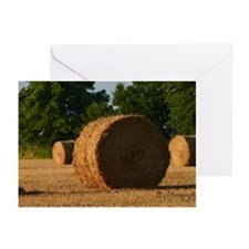 Hay Bale Greeting Cards
