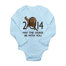 Horse With You Long Sleeve Infant Bodysuit