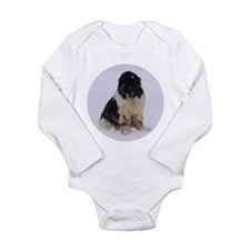 Snowy Landseer Long Sleeve Infant Bodysuit