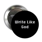 The Write Like God Button [black]