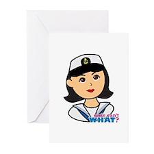 Medium Navy Head - Dress Greeting Cards (Pk of 20)