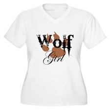 Wolf Girl Plus Size T-Shirt