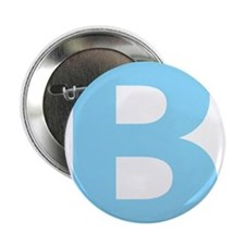 "Letter B Light Blue 2.25"" Button (10 pack)"