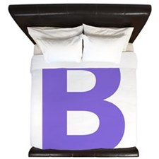 Letter B Purple King Duvet