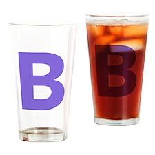 Letter B Purple Drinking Glass