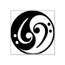 Yin Yang Bass Note Rectangle Sticker