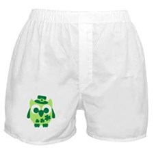 Irish shamrock owl Boxer Shorts