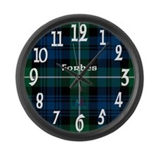 Forbes Clan Large Wall Clock