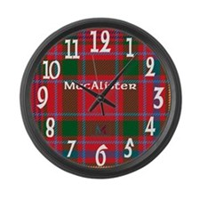 MacAlister Clan Large Wall Clock