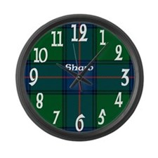 Shaw Clan Large Wall Clock
