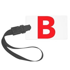 Letter B Red Luggage Tag