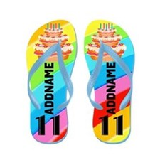 Colorful 11Th Flip Flops