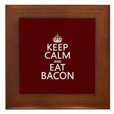 Keep Calm and Eat Bacon Framed Tile