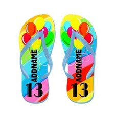 Colorful 13Th Flip Flops