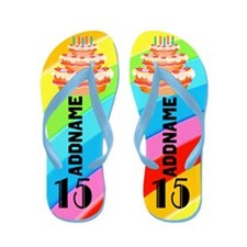 Happy 15Th Flip Flops